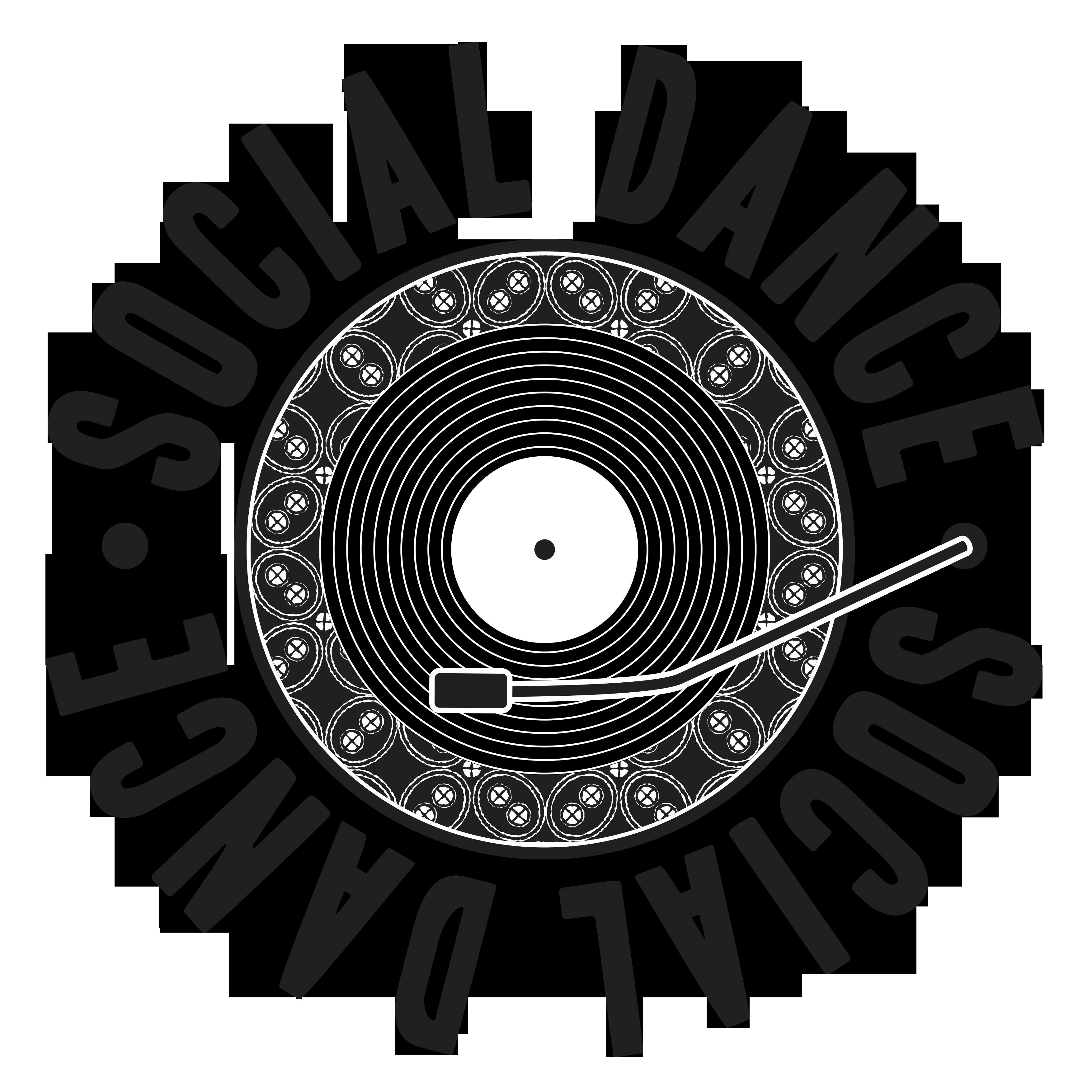 social dance logo zwart transparante achtergrond