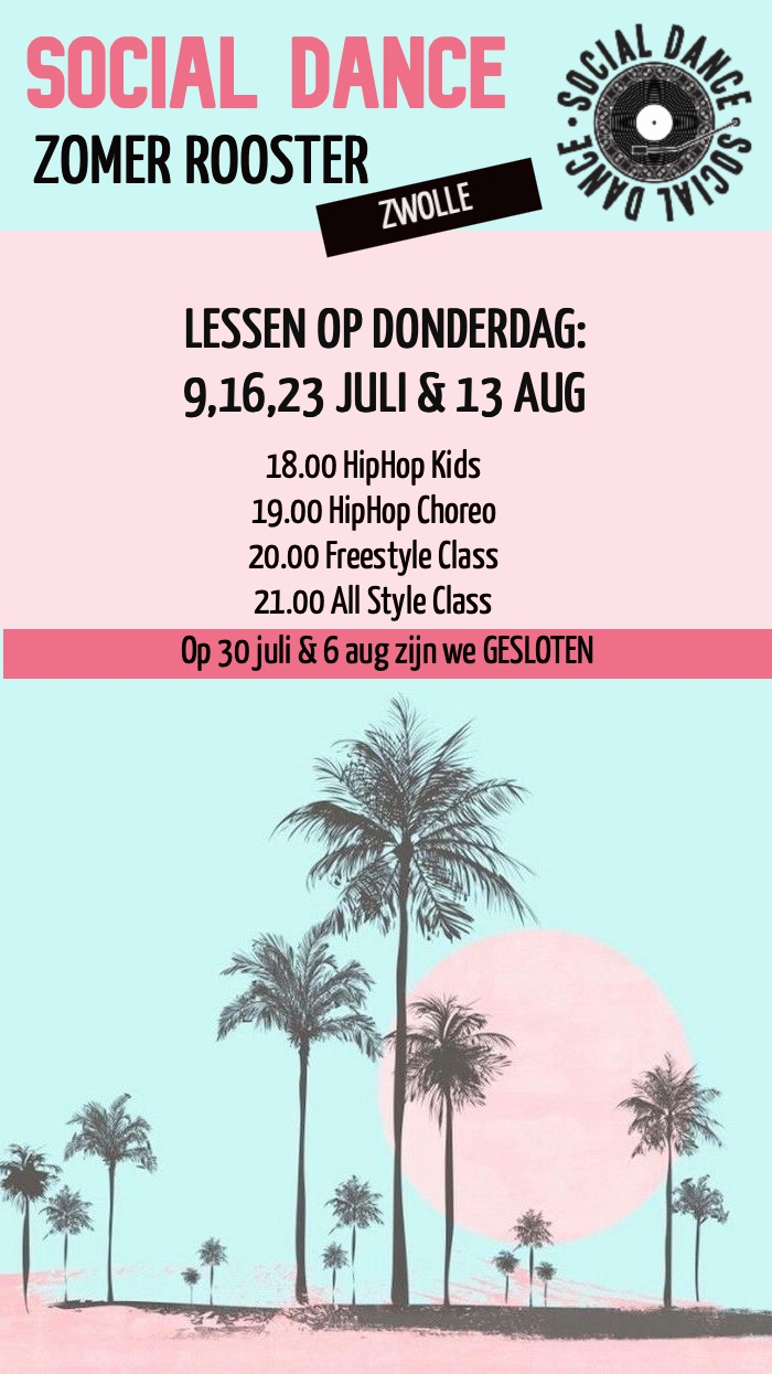 Social Dance Zwolle Zomer rooster 2020